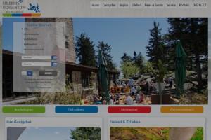 Die Homepage der Tourismus und Marketing GmbH Ochsenkopf